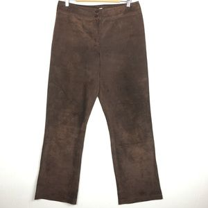 Pendleton Brown Suede Leather Lined Pants Size 10